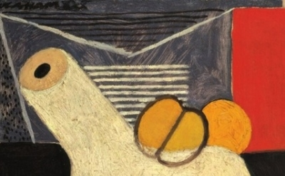 (detail) John Graham, The White Pipe, 1930, oil on canvas mounted on board (cour