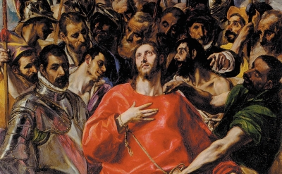 (detail) El Greco, The Disrobing of Christ, 1577–1579 (Toledo Cathedral)