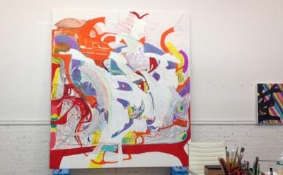 Joanne Greenbaum, Tribeca studio (photo: Ashley Garrett)