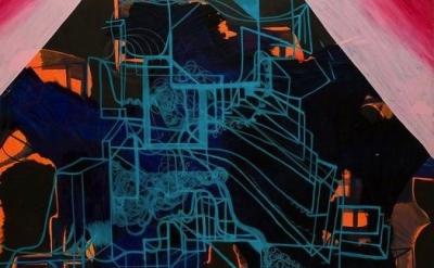 (detail) Joanne Greenbaum, Dollar General, 2008, oil and acrylic on canvas, 72 x