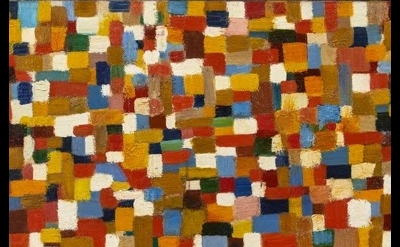 (detail) John Grillo, Untitled 27, 1952, 14 x 25 inches, oil on canvas (courtesy