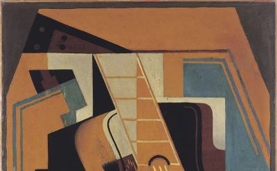 (detail) Juan Gris, The Guitar, 1918, oil on canvas, 81 x 59 cm (Colección Telefónica, 10/113 CC 200 © Fernando Maquieira)