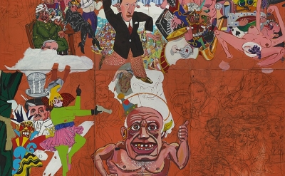 (detail) Red Grooms, Picasso Goes to Heaven, 1973 (© Red Grooms. All rights rese