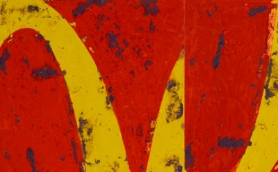 (detail) Rainer Gross, Double McD I, 2012 (courtesy of Margaret Thatcher Project