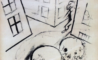(detail) George Grosz, Das Ende (The End), 1917, ink on Paper (courtesy of the N