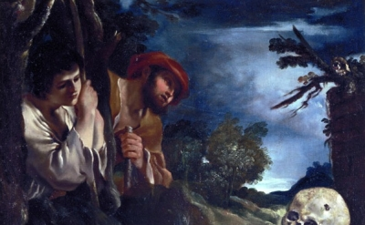 Guercino (Francesco Barbieri), Et in Arcadia Ego, 1618-22, Oil on canvas, 82 x 9