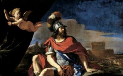 Giovanni Francesco Barbieri (Guercino), Mars With Cupid, Cincinnati Art Museum,