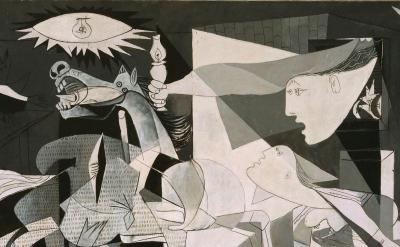 (detail) Pablo Picasso, Guernica, 1937 (Museo Nacional Centro de Arte Reina Sofía Collection © Sucesión Pablo Picasso, VEGAP, Madrid, 2017)
