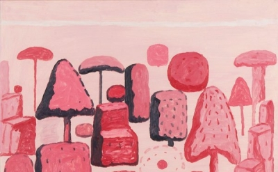 Philip Guston, Farnesina Garden Rome, 1971 (Lyman Allyn Art Museum, New London)