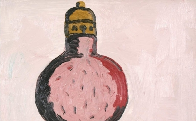 (detail) Philip Guston, Light Bulb, oil on panel, 12 x 14 inches