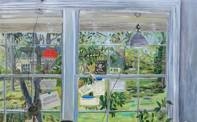 Mary Addison Hackett, Studio Window (Nashville), oil on canvas, 54 x 66 inches,