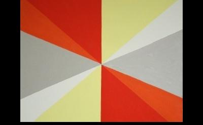 (detail) Sharon Hall, Not Titled (Multiple Diagonals), oil on linen, 53 x 63 cm,