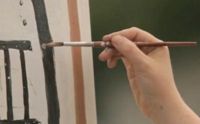 Josephine Halvorson painting (screen capture courtesy of Art:21)