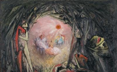 Hans Burkhardt, Liberation of Paris, 1944, oil on canvas, 38 x 47 inches, courte