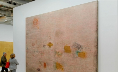 Installation View: Simon Hantaï, Peinture (Ecriture rose), 1958–59 (photo: Franc