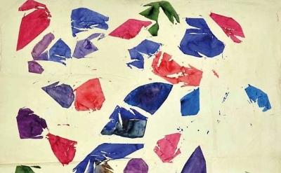 (detail) Simon Hantaï, Blanc, 1974 (courtesy of Paul Kasmin Gallery)