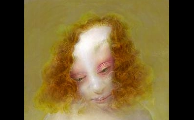 (detail) Anne Harris, Portrait (Pink Eyelid), 2010 (courtesy of Alexandre Galler