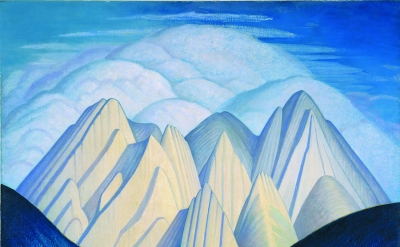 Lawren Harris, Untitled (Mountains Near Jasper), ca. 1934-40, oil on canvas, 50