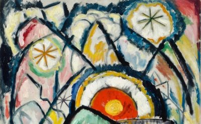 (detail) Marsden Hartley, Painting Number One, 1913 (Sheldon Museum of Art/Unive