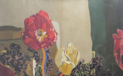 Anne Harvey, Tulips, (n.d), oil on linen, 36 1/4 x 25 1/2 inches (courtesy Steven Harvey Fine Art Projects)
