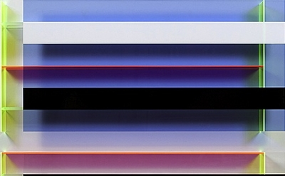 (detail) Christian Haub, Joe Strummer Float, 2013, cast acrylic sheet, 52 x 48 x