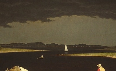 (detail) Martin Johnson Heade, Approaching Thunder Storm, 1859, oil on canvas, 2