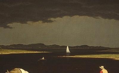 (detail) Martin Johnson Heade, Approaching Thunder Storm, 1859, oil on canvas, 2