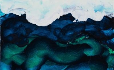 (detail) Mary Heilmann, San Gregorio, 2012, oil on canvas, 15 x 12 inches (court