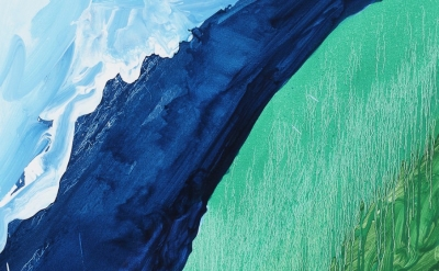 (detail) Mary Heilmann, Crashing Wave, 2011 ( © Mary Heilmann, Photo: Thomas Mül