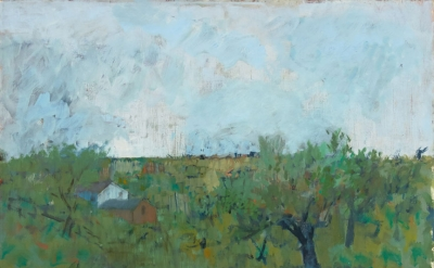 John Heliker, Spring Planting, 1972, oil on canvas, 26 x 30 inches (courtesy of