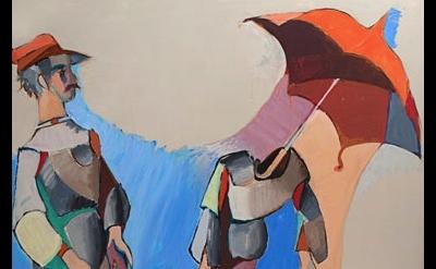 (detail) Jean Hélion, Mannequinerie en solde, 1978, acrylic on canvas, 57-1/2 x