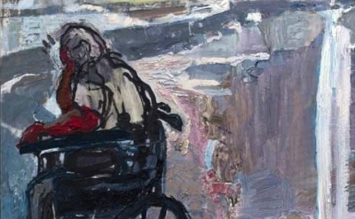 (detail) Susanna Heller, Lost in Thought, 2013, oil on canvas, 50 x 33 inches (p