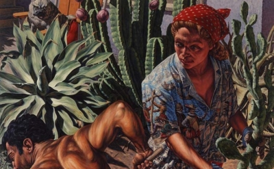 (detail) F. Scott Hess, Her Garden, 1990, oil on canvas (courtesy of the artist)