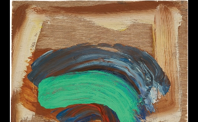 Howard Hodgkin, Indian Waves, 2013–14, oil on wood, 9 x 12 inches (courtesy of G