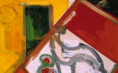 (detail) Hans Hofmann, Fruit Bowl Version 6, 1950, oil on canvas, 48 x 36 inches