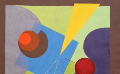 (detail) Chronological #255, ca. 1945 Gouache on paper 21 x 21 inches