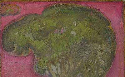 (detail) Eric Holzman, Elm, 2008-14, oil on canvas,  20 x 16 inches (courtesy of