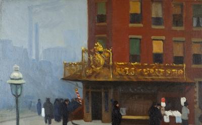 Edward Hopper, New York Corner (Corner Saloon), 1913, oil on canvas (Cantor Arts
