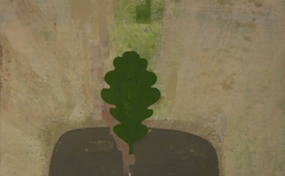 (detail) David Hornung, Leaf, 2013, gouache on handmade paper, 10 x 11 inches (c