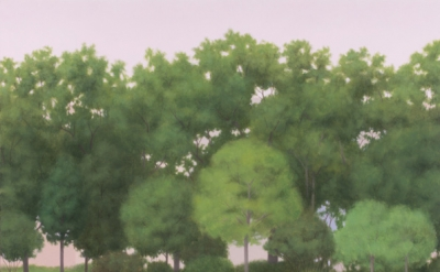 Ridley Howard, Track, 2011, Oil on linen, 30 x 36 inches, (courtesy of Leo Koeni