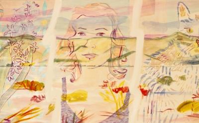 (detail) Heidi Howard, Anna Glantz, 2014, oil on canvas, 30 x 50 inches  (courte