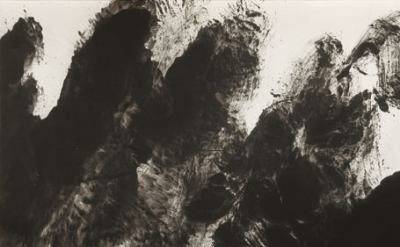 (detail) Li Hushing, 0831, 2008, ink on paper, 38 1/8 x 71 inches (courtesy of Mayor Gallery)
