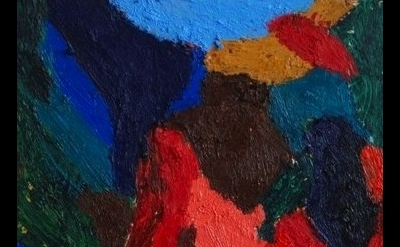 (detail) Ralph Hunter-Menzies, abstract composition, 2012, oil stick and oil pai
