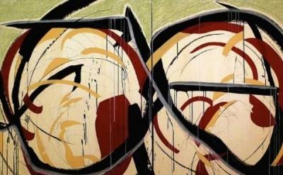 (detail) Karl Hyde, Skin Like Smoke Eyes Like Starless Night, 2010, Graphite, Pa