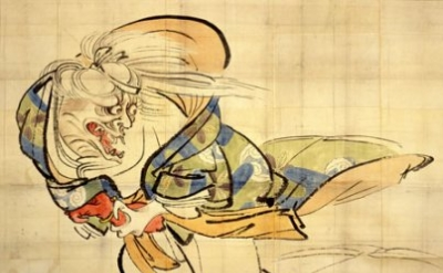 Shibata Zeshin, The Ibakari Demon, c. 1839-40, ink and color on paper, 51-1/2 x