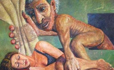 Jon Imber, Intrusion, oil on canvas, 66 x 84 inches, 1981