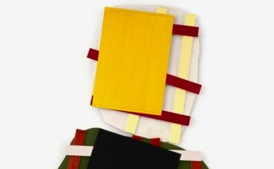 Imi Knoebel, Kartoffelbild 7, 2011, acrylic on aluminum 2 parts, 240 x 163 x 8 c