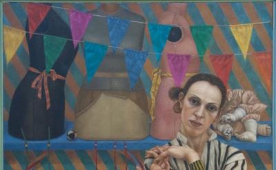 (detail) Lani Irwin, Epona, 2013, 120 x 100 cm, oil on linen (courtesy of the ar