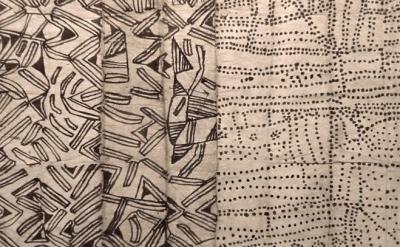 (detail) Ituri painted barkcloth (courtesy Fowler Museum, UCLA)