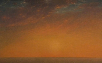 (detail) John Frederick Kensett, Sunset on the Sea, 1872, oil on canvas, 28 x 41